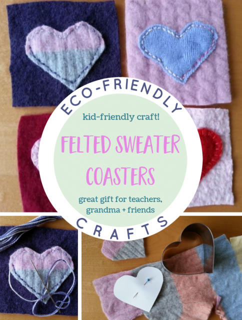 Felted Sweater Coasters