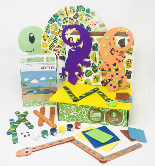 Green Kid Crafts reptile subscription box