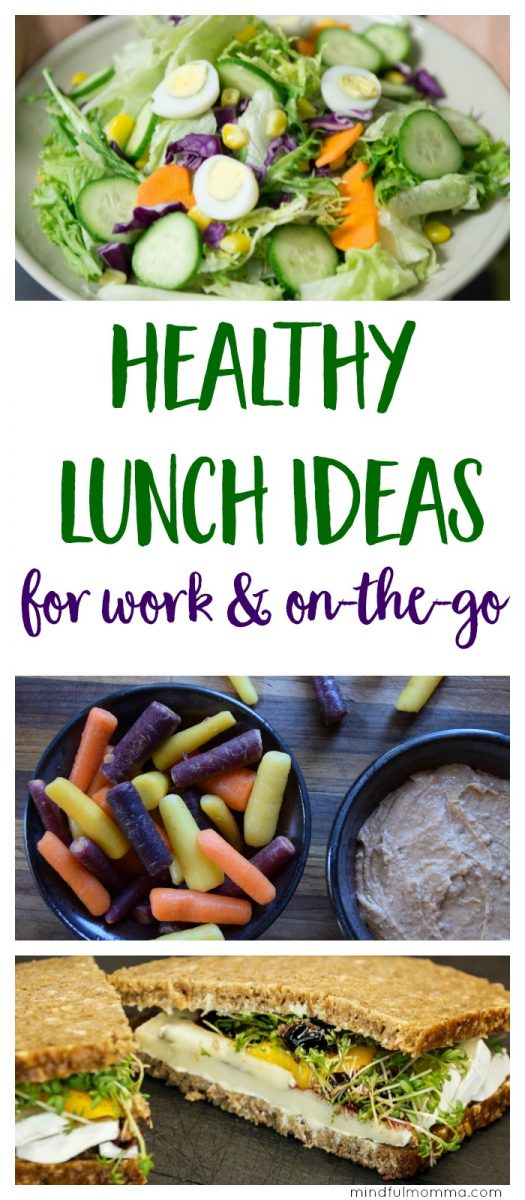 Healthy lunchbox ideas that go beyond basic sandwiches. Don't be tempted by fast food and unhealthy snacks - pack a healthy, satisfying lunch from home to bring to work or anytime you need food on-the-go! | healthy lunch food | packed lunch | real food via @MindfulMomma