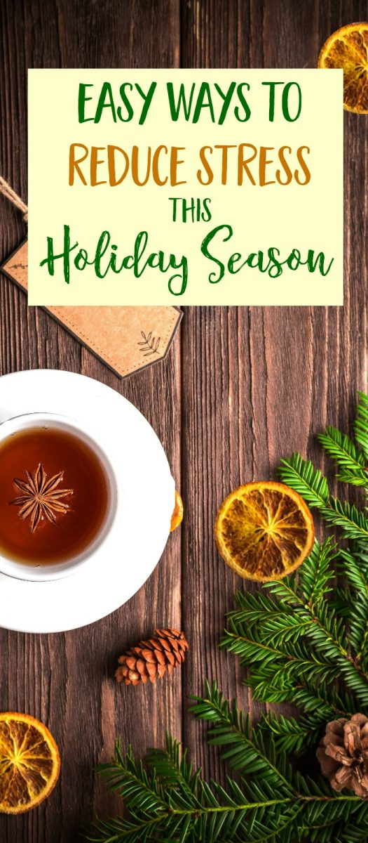 5 easy ways to reduce stress so you can be more calm and relaxed during the busy and often stressful holiday season. #ad #stressrelief #holidays  via @MindfulMomma