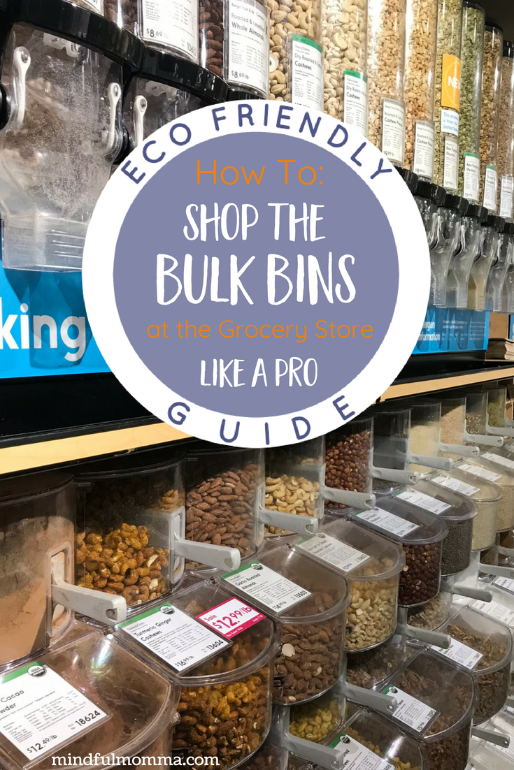 Intimidated by the bulk bins a the grocery store, food co-op or Whole Foods? Learn all about tare weights and PLUs and the many benefits of buying food in bulk, so you can shop from the bulk bins with confidence, while saving money and reducing packaging waste. | #healthyfood #organic #naturalfood #shopping #ecofriendly #zerowaste  via @MindfulMomma