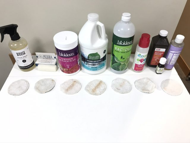 Eco-friendly stain removers test after