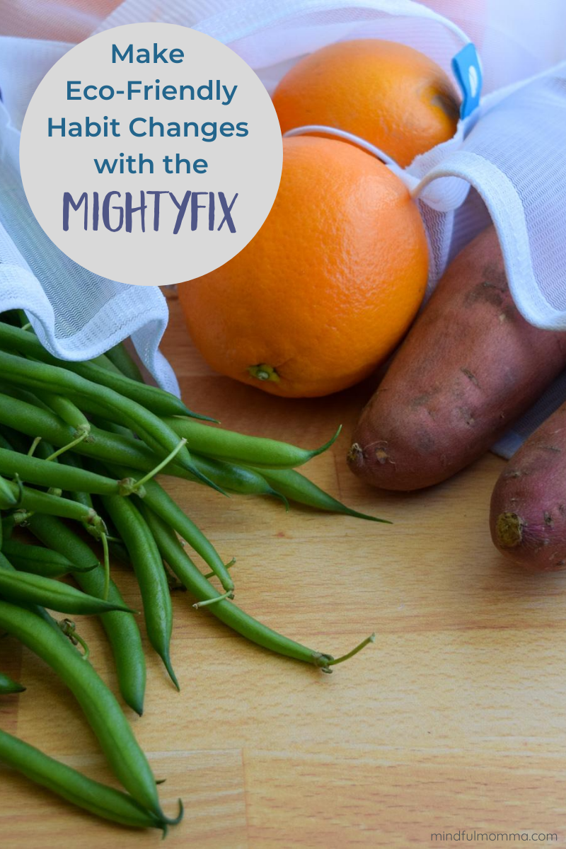 """Eco-friendly habit changes are easy and affordable with with a MightyFix subscription. Get started for just $3 with your first """"fix"""" of a set of reusable produce bags. Learn more on the blog! 