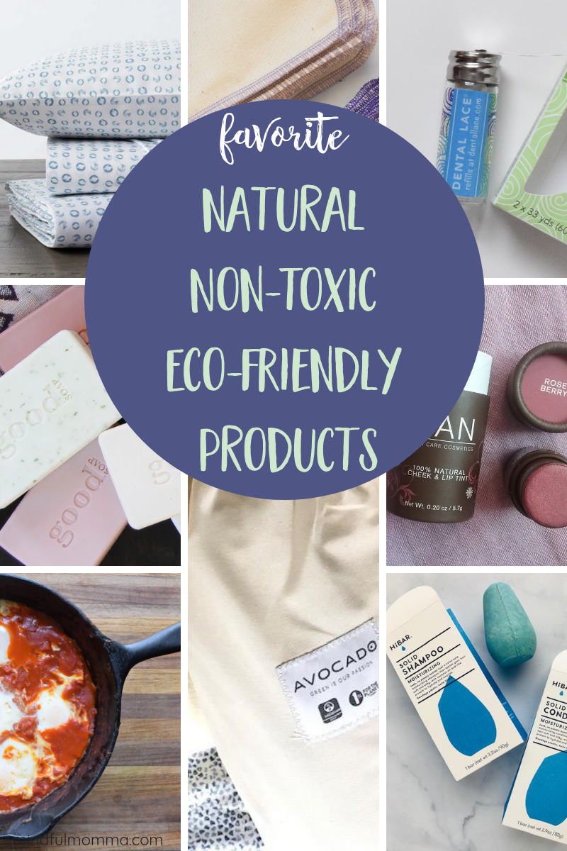 My ONE top natural, non-toxic, eco-friendly product in every category. These are my tried and true, go-to products that I re-buy over and over again and highly recommend. Includes natural body care and beauty products, cosmetics, zero waste kitchen products, non-toxic cleaning procucts, organic bedding and home products and more. Take a look and find your new favorites! | #natural #nontoxic #ecofriendly #organic #cleanbeauty via @MindfulMomma