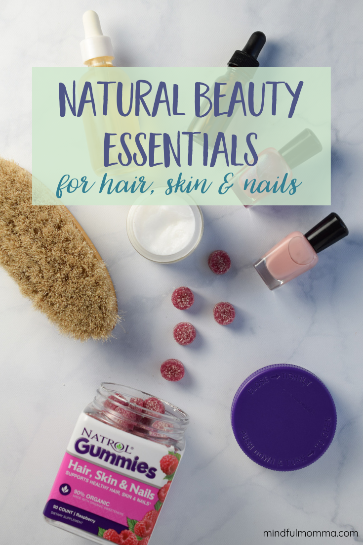 Stock your bathroom cupboard with these natural beauty essentials to get the radiant skin, gorgeous hair & strong nails you want without spending a fortune on expensive beauty treatments. | #ad #Natrol #NatrolGummies #naturalbeauty #skincare #haircare #nails #giveaway via @MindfulMomma