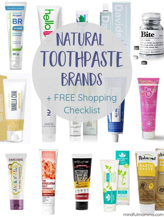 Natural toothpaste brands