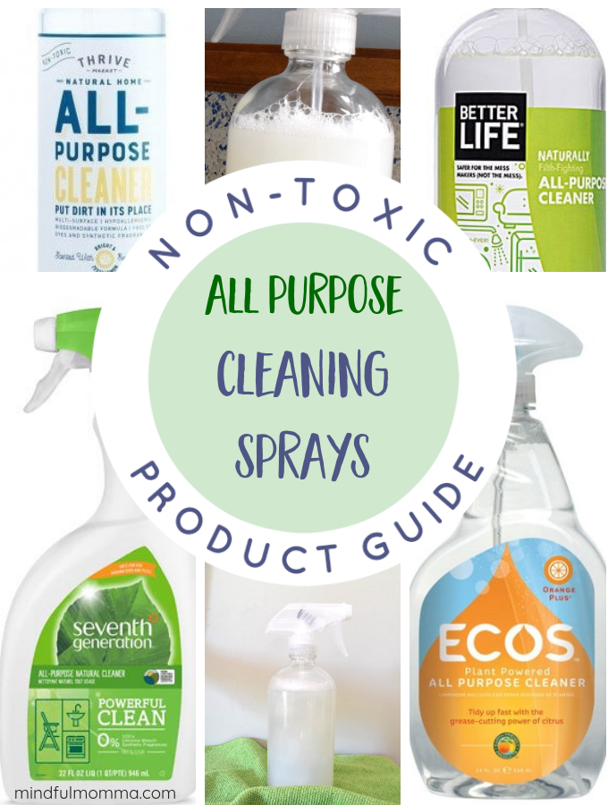 Non-Toxic All Purpose Cleaning Sprays