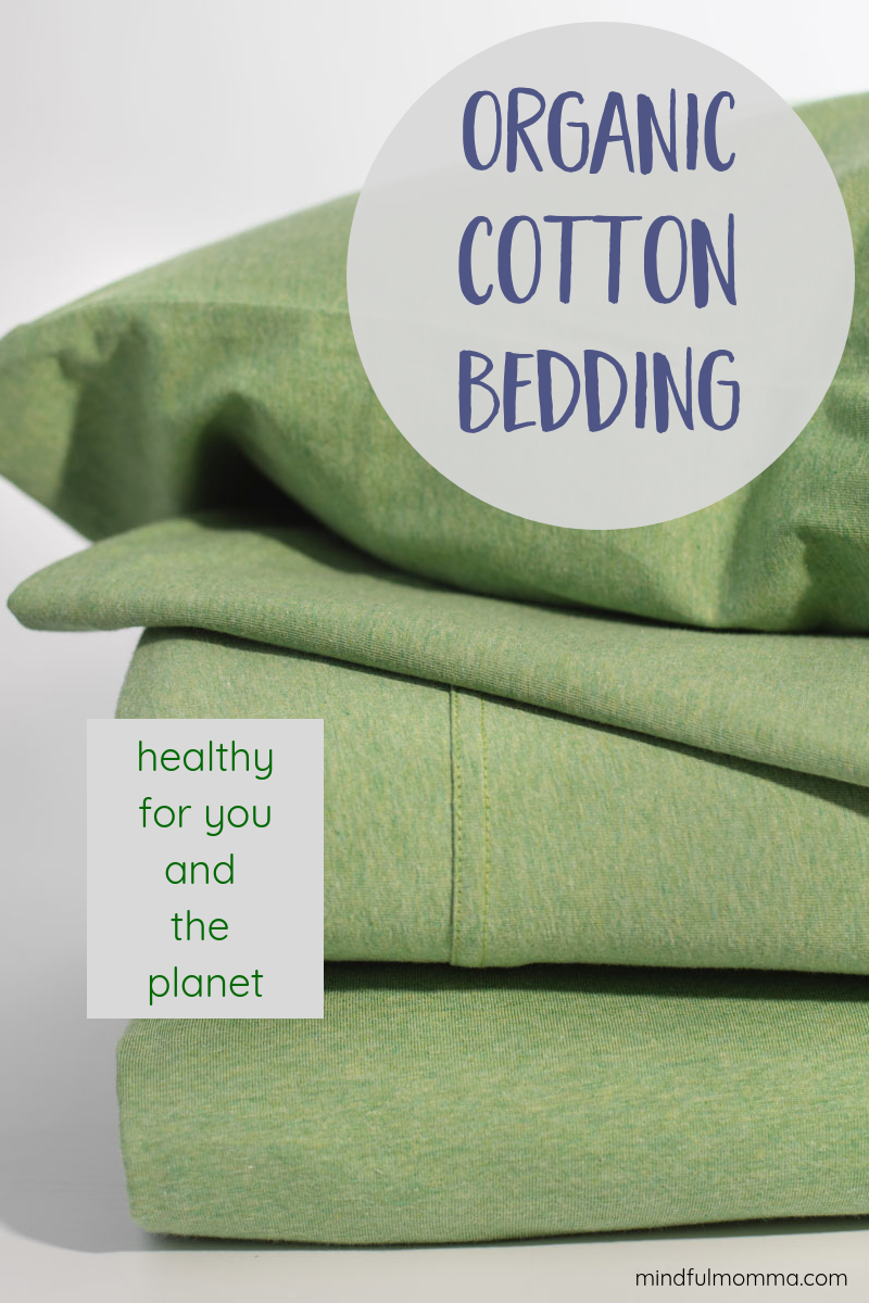 Find the organic cotton bedding that works best for your sleep style and is healthy for you and the planet. Choose from organic cotton jersey that is as soft as your favorite t-shirt, or organic sateen sheets that are crisp & cool. | #organiccotton #bedding #organic #sheets #sleep #ecofriendly #planetfriendly via @MindfulMomma