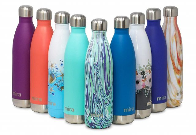 Reusable stainless steel bottles