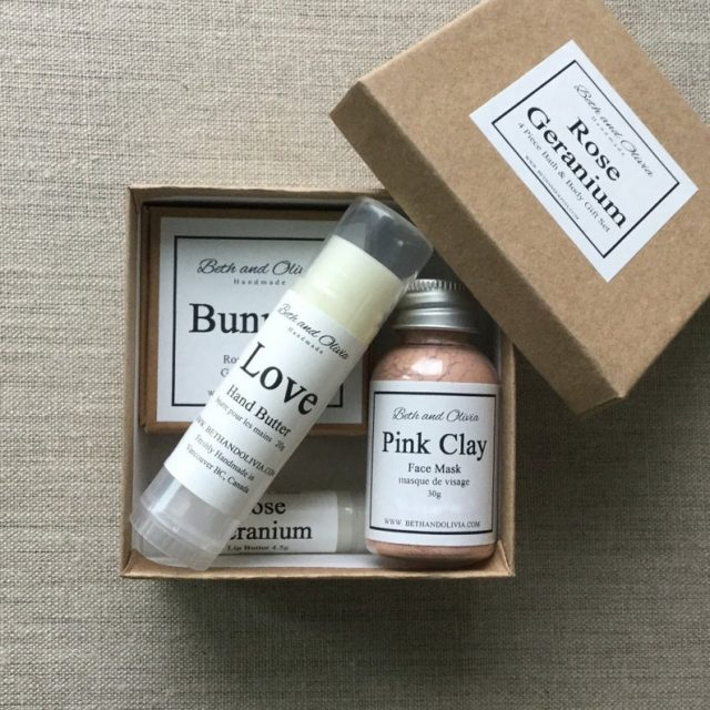 Rose Geranium Gift Set Etsy