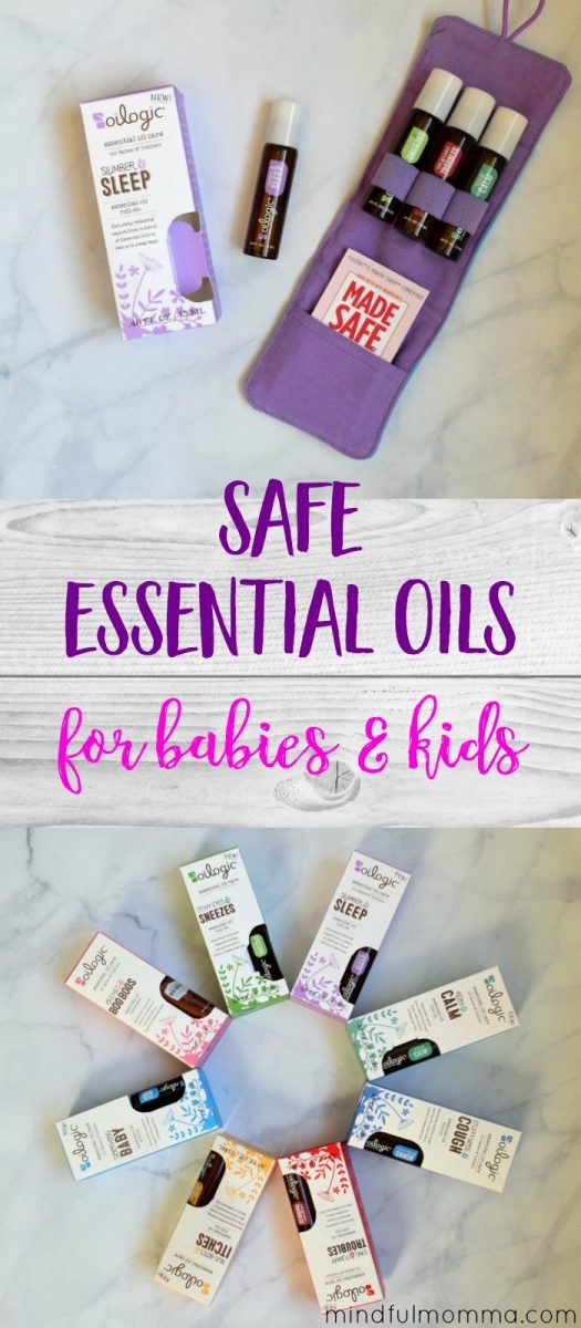 Oilogic essential oil roll-ons take the guesswork out of using essential oils on babies and kids, while still providing therapeutic benefits. | natural baby products | safe essential oils | baby gifts | #essentialoils #baby via @MindfulMomma