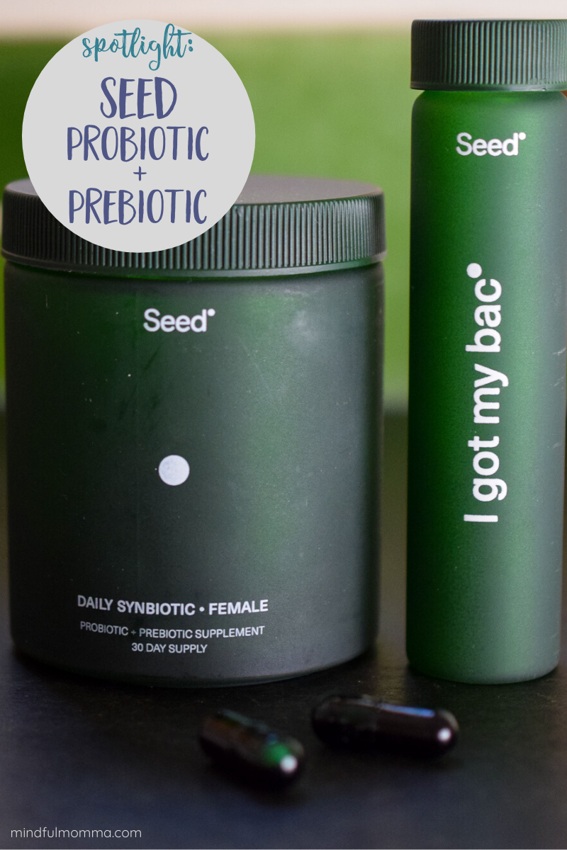 Seed Daily Synbiotic is a combination probiotic and prebiotic that not only benefits your gut, but also your heart, skin, metabolism and more. Plus, Seed is mindful of the planet with reusable glass jars and biodegradable and recyclable packaging. Get 15% off your first month using my discount code in the post! | #ad #probiotics #prebiotics #guthealth #ecofriendly via @MindfulMomma