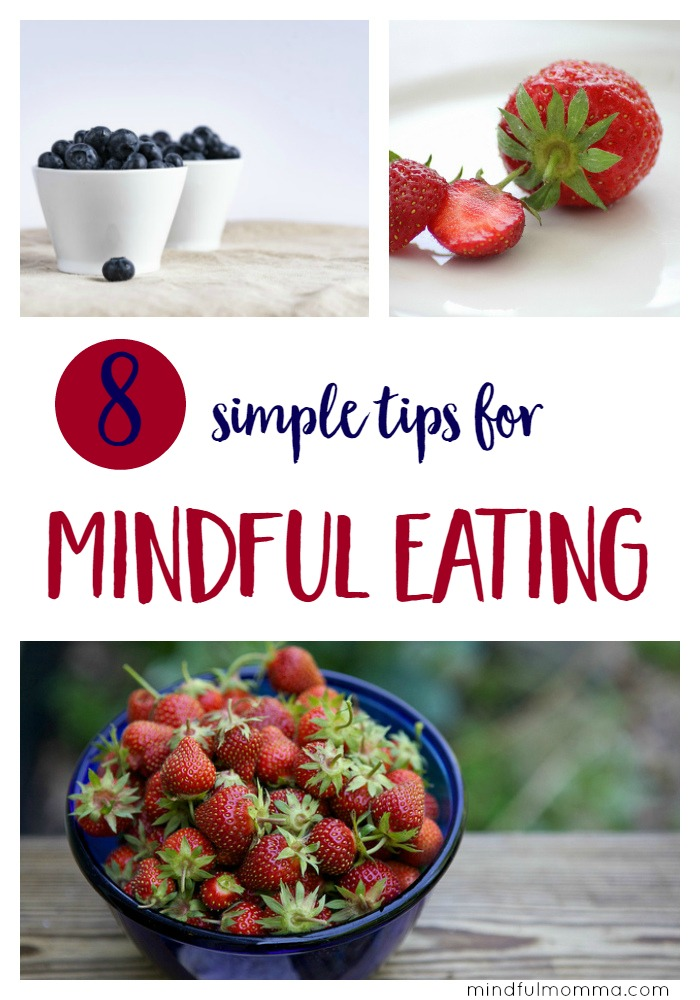 Mindful eating tips to help you pay attention and appreciate the food you eat - both as an everyday practice and to help reset after holiday indulgences. | healthy natural lifestyle | mindfulness  via @MindfulMomma