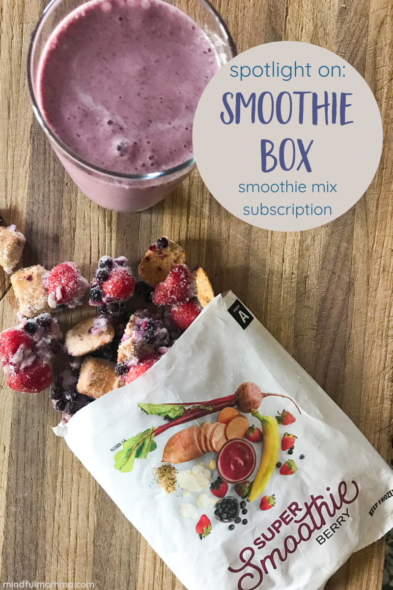 With Smoothie Box organic smoothie subscription service you'll have healthy smoothie mix available in your freezer whenever you need it. Get a discount on your first order of these delicious organic smoothies! | #smoothies #organic #subscriptionbox #breakfast via @MindfulMomma