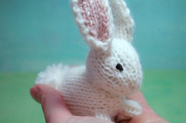 Stuffed Knit Bunny
