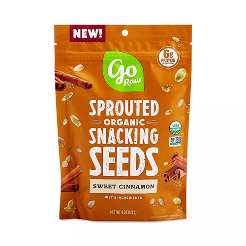 Go Raw sprouted organic sweet cinnamon snacking seeds