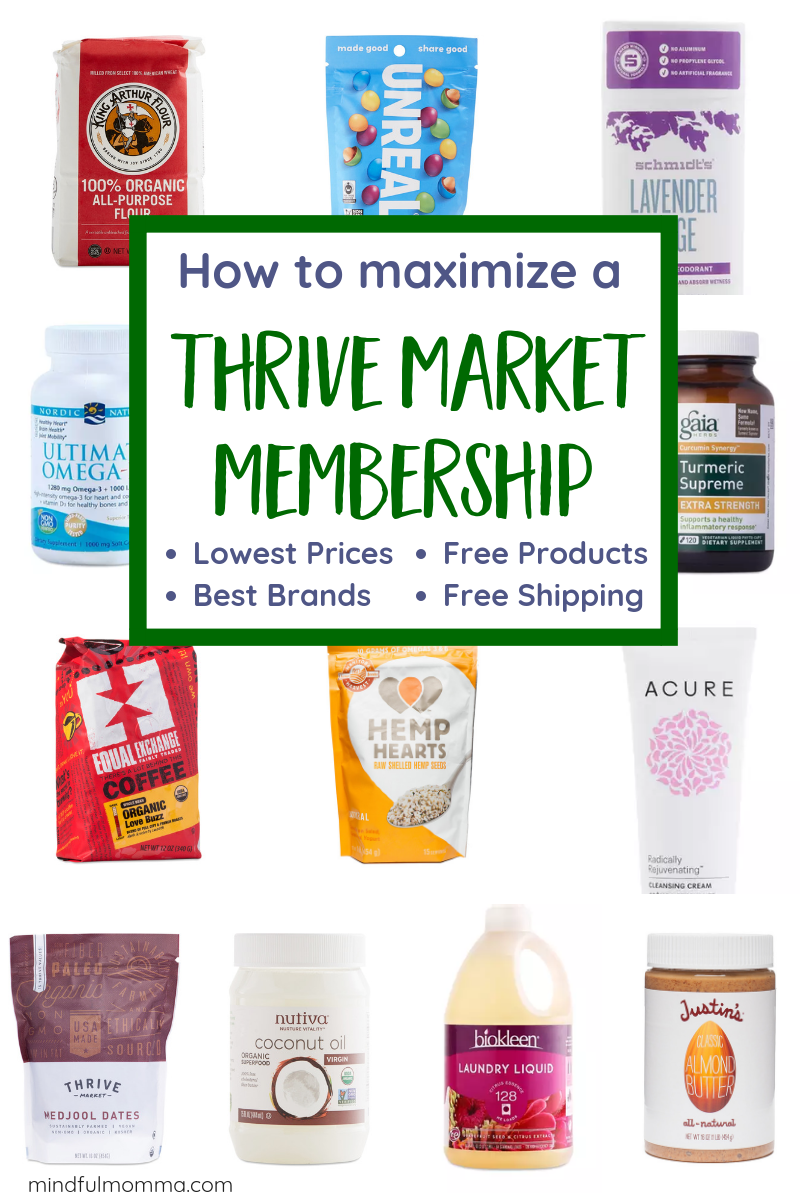 Get the most value from your Thrive Market membership by learning how to get the lowest prices, free products and free shipping on healthy food, non-toxic beauty, cleaning and home products, organic & sustainable meat and clean wine. Plus learn the must-have products and brands in this Thrive Market review. | #thrivemarket #organic #natural #healthyfood #wine #beauty via @MindfulMomma