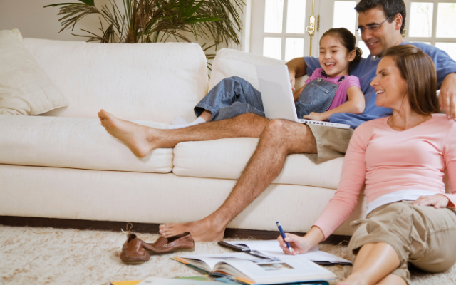Toxic Chemical Exposures family on couch