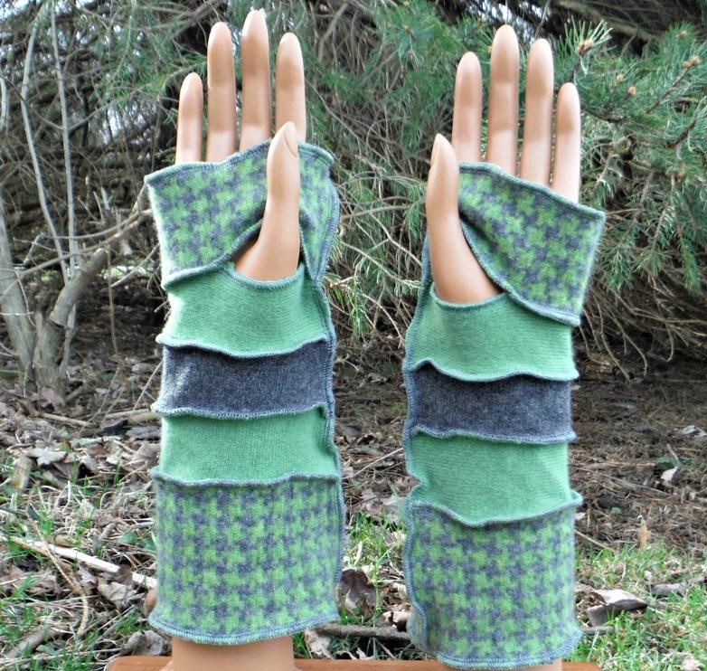 Upcycled arm warmers Etsy gifts