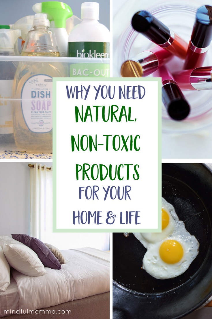 Everything you need to know to transition to natural, non-toxic products in your home & life - from baby steps to bigger changes. Covers non-toxic green cleaning products, natural beauty and personal care, safe & healthy kitchen and cooking products, natural baby and much more. Lots of great info here so PIN it for later reference! #natural #nontoxic #ecofriendly #organic via @MindfulMomma