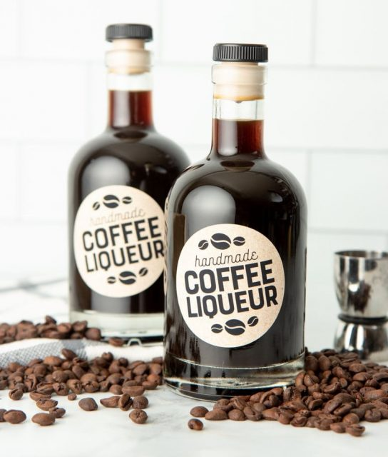 Homemade Coffee Liquor from Wholefully