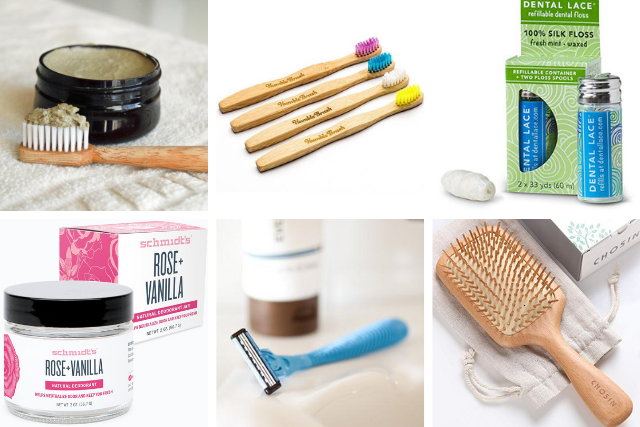 zero waste bathroom essentials - personal care